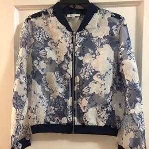 Shear Floral Bomber Jacket